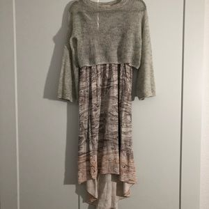 Anthropologie Layered Sweater Dress